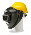 Evermatic welding helmet with hard hat