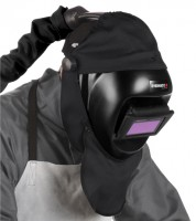 Professional welding helmets with respiratory protection