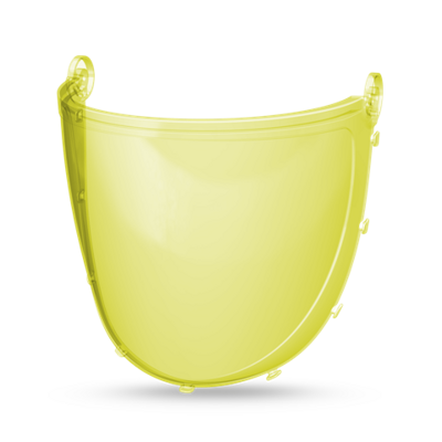 CleanAIR Spare grinding visor polycarbonate, optical class 1, yellow