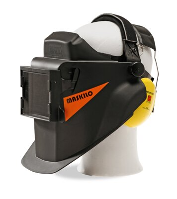 Maskilo M10 with hearing protectors