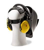 Welding helmets with hearing protector